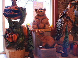 Store for Chainsaw Carving Sculptures